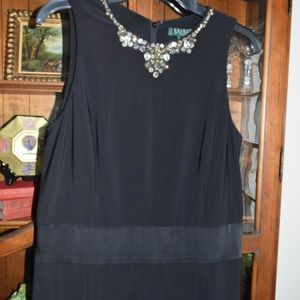 Lauren dressy black dress with jewels